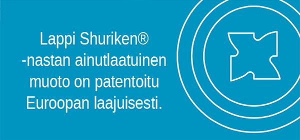 Patentoitu Euroopan laajuisesti